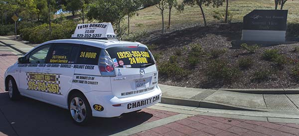 Charity cab's taxi in san ramon drop off